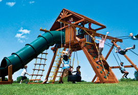 KKCA3-II-WR-SO-King-Kong-Castle-Pkg-II-with-Tube-Slide-Wood-Roof-and-More-A1